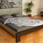 krevet puno drvo i koža